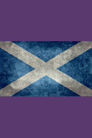 Flag of Scotland - vintage retro style