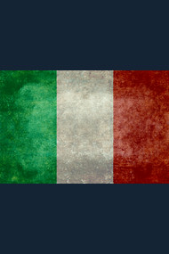 Flag of Italy, vintage retro style
