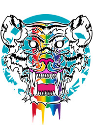 Rainbow jungle tiger