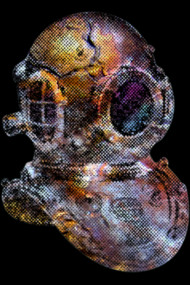 Pop Art Steampunk Diver's Helmet