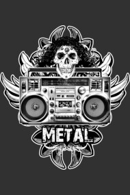 Boombox Metal Art by Bill Tracy