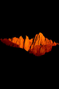 abstract orange mountain