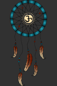 Chakra Dream Catcher - Blue