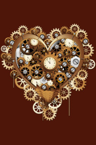 Steampunk Heart Love Vintage
