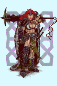 Red Headed Warrior Barbarian Badass