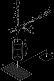 Exploded View Beer Tap T-Shirt