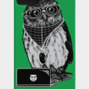 Bazmek wearing Limited Edition - Smart Owl by Recycledwax