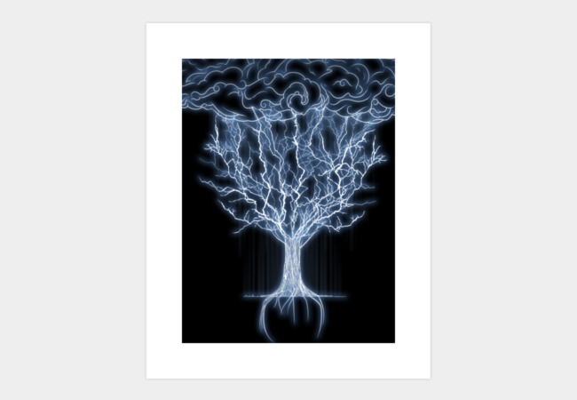 tree of lightings Art Print - Design By Humans