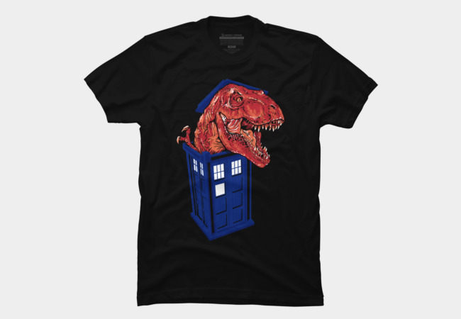 Dinosaur in the TARDIS Men's T-Shirt