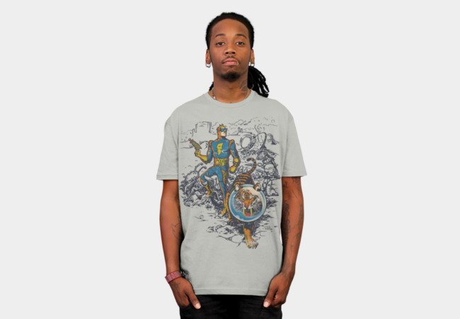 Calvin: The Spiffy Spaceman T-Shirt - Design By Humans