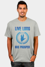 Live Long and Prosper - Spock's hand - Leonard Nimoy Geek Tribut