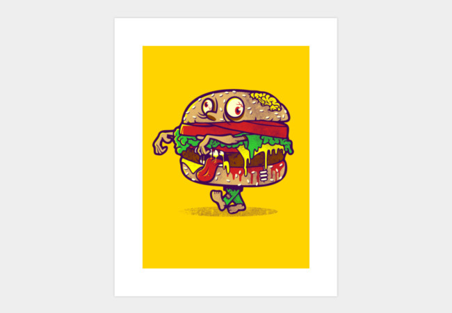 ZOMBURGER Art Print - Design By Humans