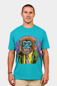 Psychedelic Chimp in Monkey Suit is All Business