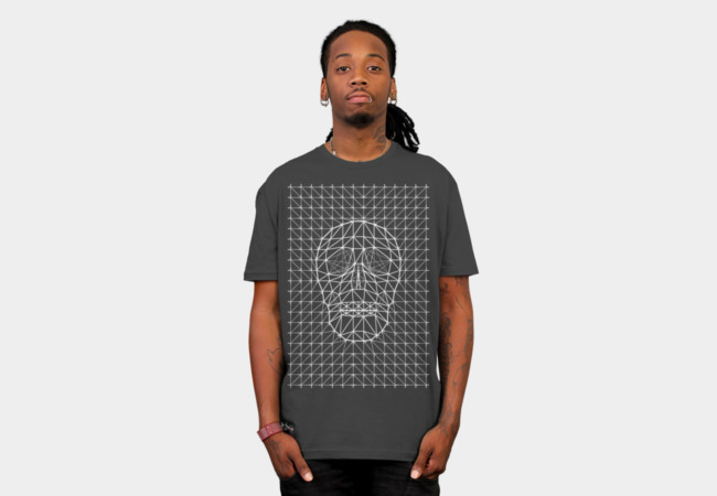 Triangles and Line Art Skull T-Shirt - Design By Humans