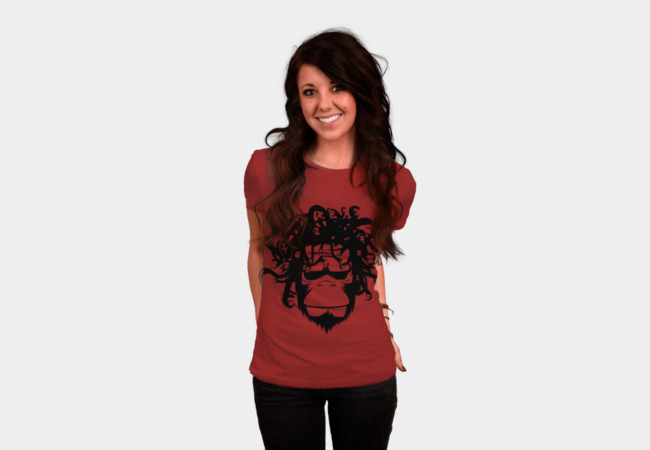 Medusa Monkey Version T-Shirt - Design By Humans
