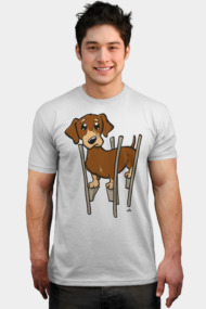 Dachshund wiener cartoon dog
