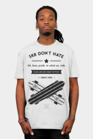 sk8 don't hate (black)