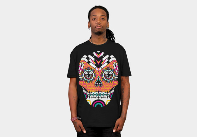 Deco Skull T-Shirt - Design By Humans