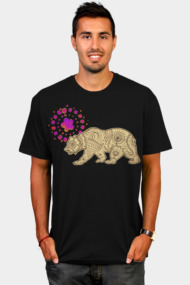Free-Spirited California State Flag Bear