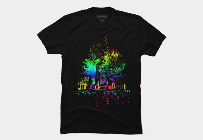 city lights Men's T-Shirt