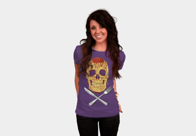 Spaghetti Skull T-Shirt - Design By Humans