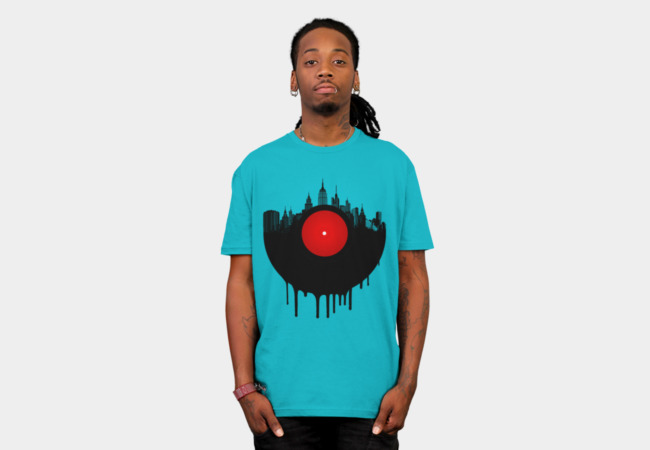 The Vinyl City T-Shirt - Design By Humans