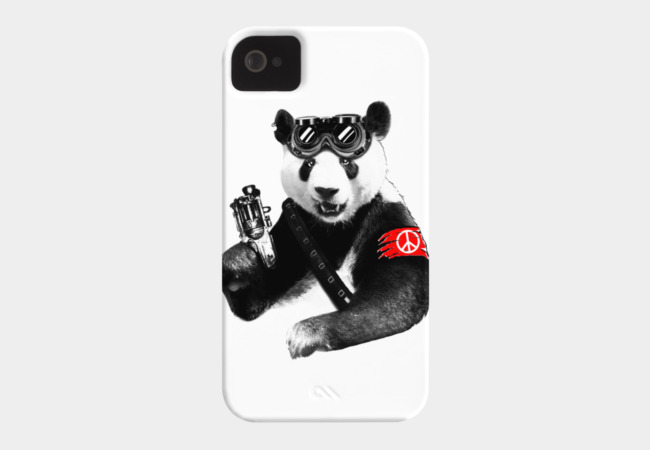 Panda Rebel Phone Case - Design By Humans