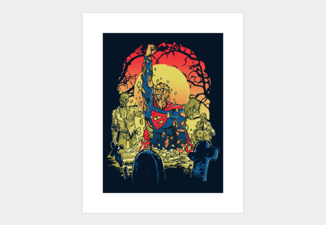 Super Zombie Art Print - Design By Humans