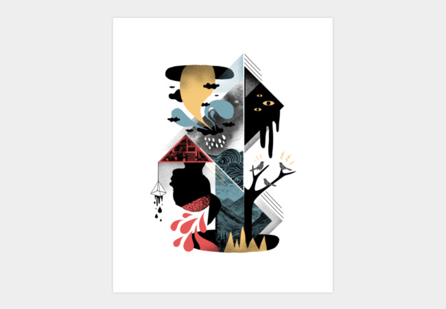 Shapes and Nightmares Art Print - Design By Humans