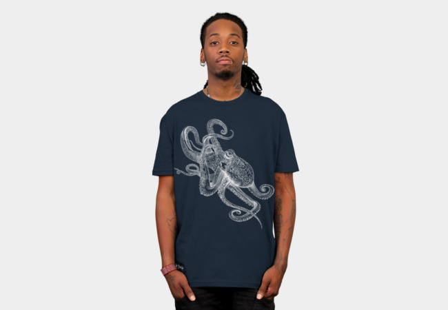 White Octo T-Shirt - Design By Humans