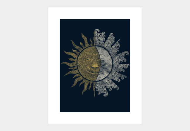 Sun and Moon Art Print - Design By Humans