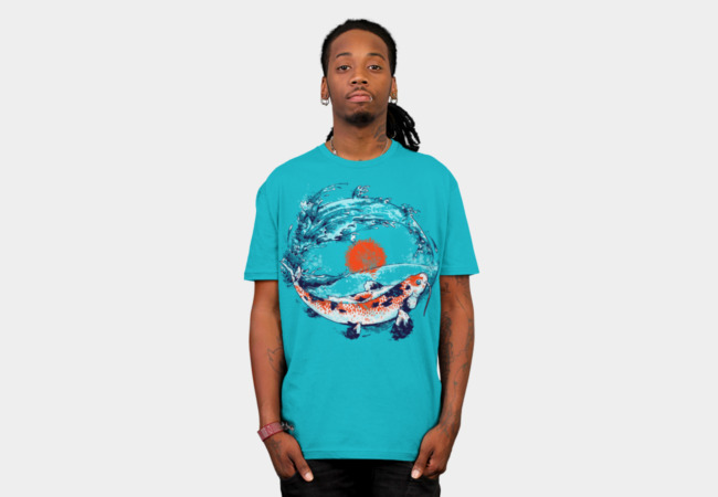 Playing Koi T-Shirt - Design By Humans