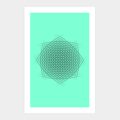 Abstract lineart geometric modern art