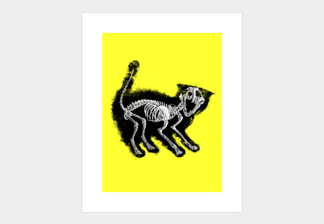 The Purrfect Scare Art Print - Design By Humans