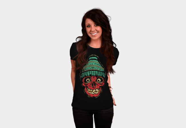 Beanie Skull T-Shirt - Design By Humans