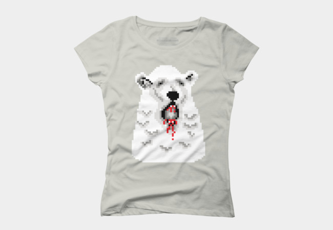 Pixel Polar Bear Women's T-Shirt