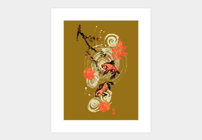 KOI POND Art Print - Design By Humans