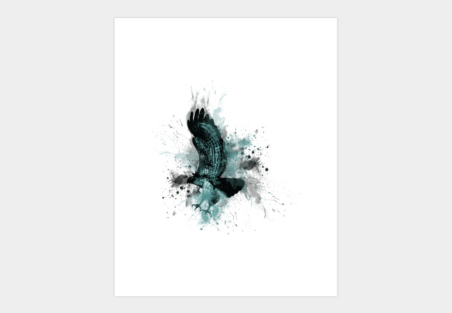 Hawk Dive Art Print - Design By Humans