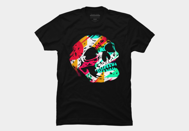 Skull and Color Men's T-Shirt