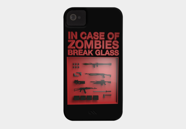 In Case of Zombies.. Phone Case - Design By Humans
