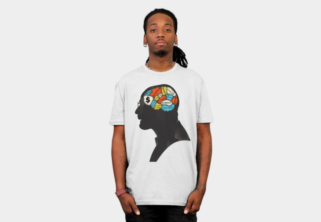 Walter Phrenology T-Shirt - Design By Humans
