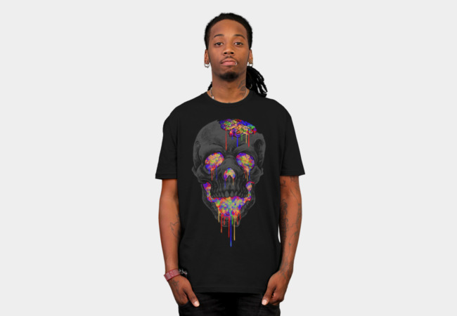 skull love art T-Shirt - Design By Humans
