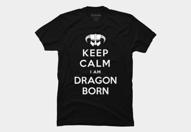 Keep Calm I Am Dragonborn Men's T-Shirt
