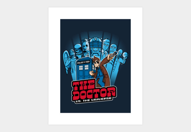 The Doctor VS. The Universe Art Print - Design By Humans