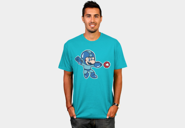 Mega Mario T-Shirt - Design By Humans