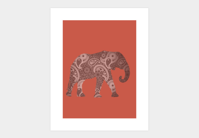 Paisley Elephant Art Print - Design By Humans