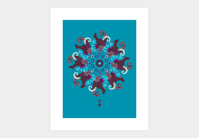 ELEPHANT MANDALA Art Print - Design By Humans