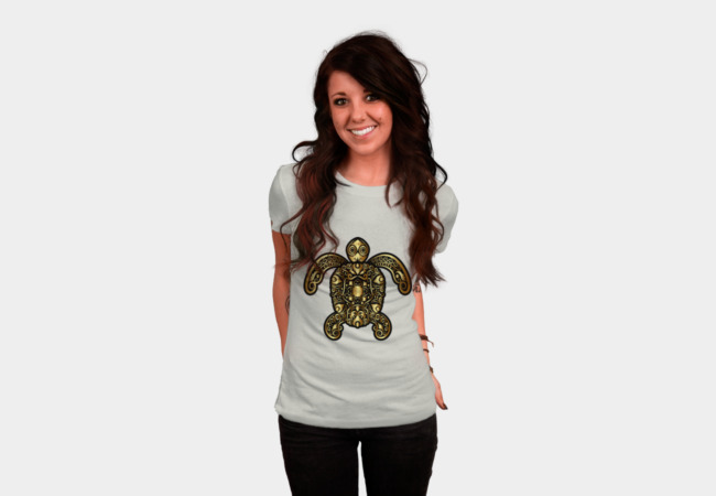 Golden Turtle T-Shirt - Design By Humans