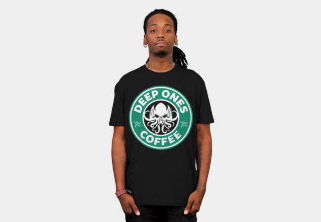 Deep Ones Coffee T-Shirt - Design By Humans