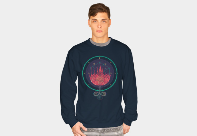 Fading Dahlia Sweatshirt - Design By Humans